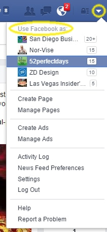 Using Facebook as the page allows you to engage with vertically relevant brands and businesses.
