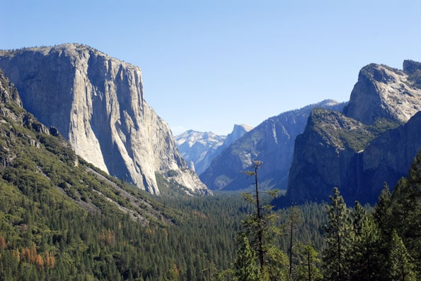 Tunnel View in Yosemite National Park.