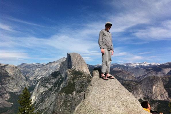 Glacier Point in Yosemite.