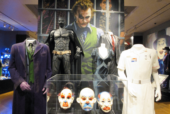 "Warner Bros Studio Museum ""Batman Exhibit"" with Heath Ledger as the Joker."