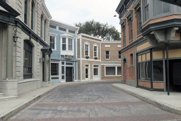 Warner Bros VIP Studio tour back lot street.