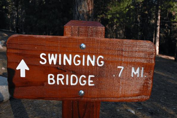 Swinging Bridge Trail Head, Wawona in Yosemite.