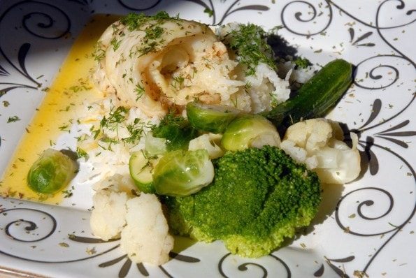 Lemon Dill Poached Sole