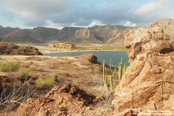 view of villa del palmar in loreto, mexico from hike