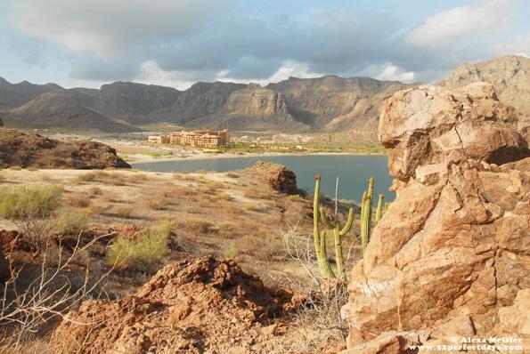 view of villa del palmar in loreto, mexico from hike