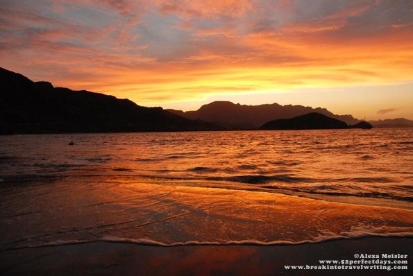 Sunset in Loreto, Mexico