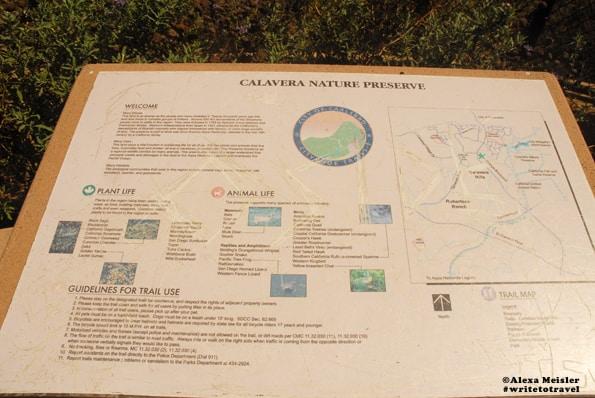 Map for Calavera Nature Preserve in Carlsbad