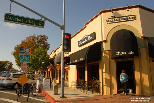 Chocolate shop in Carlsbad Village in California