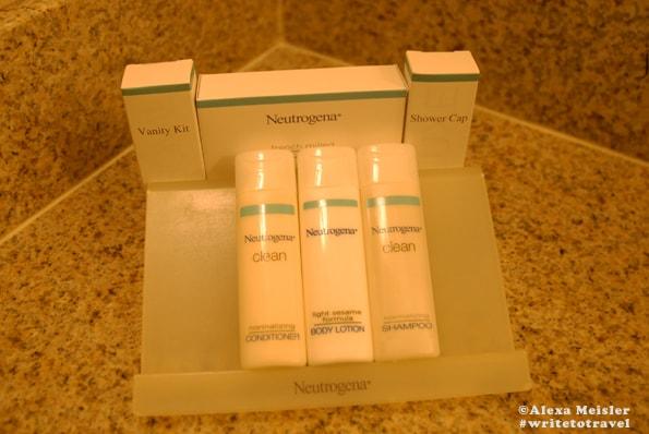 Neutrogena bath products at the Hilton Garden Inn Carlsbad.