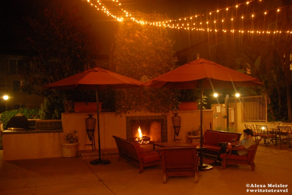 Firepit at the Hilton Garden Inn in Carlsbad, California .