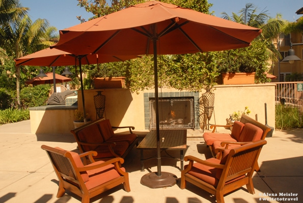 Firepit At The Hilton Garden Inn In Carlsbad California