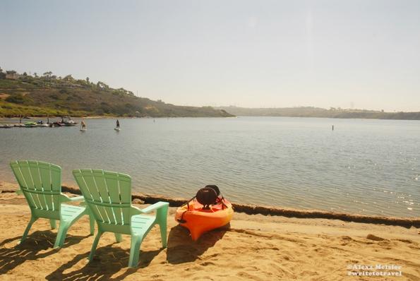 Paddleboard at Carlsbad Lagoon in Califonia