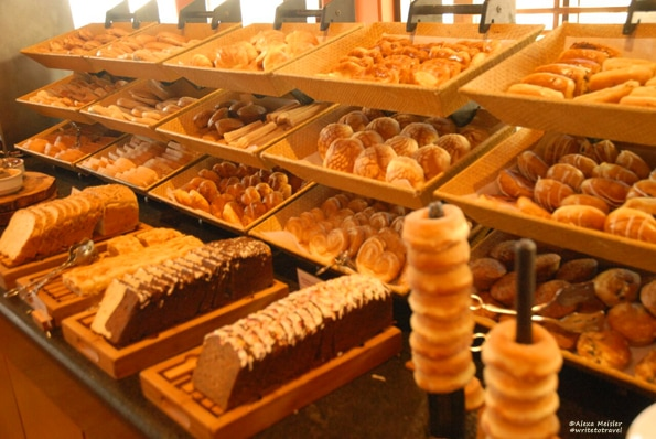 Pastries at breakfast buffet at CasaMagna Cancun, Mexico