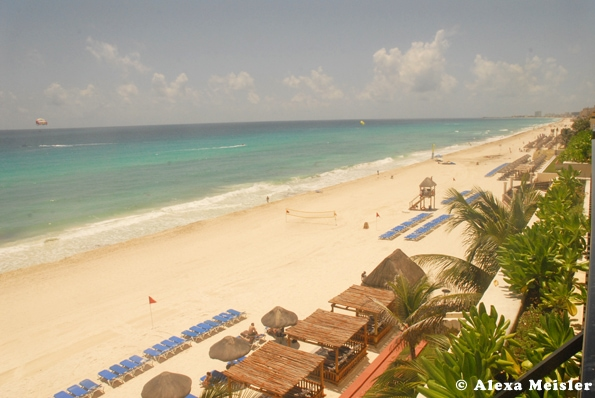 CasaMagna Marriott resort in Cancun, Mexico view from balcony