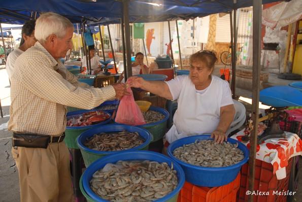 Los Changeras Shrimp Market in Mazatlan, Mexico