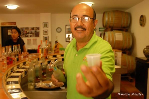 Onillikan tasting in Mazatlan, Mexico
