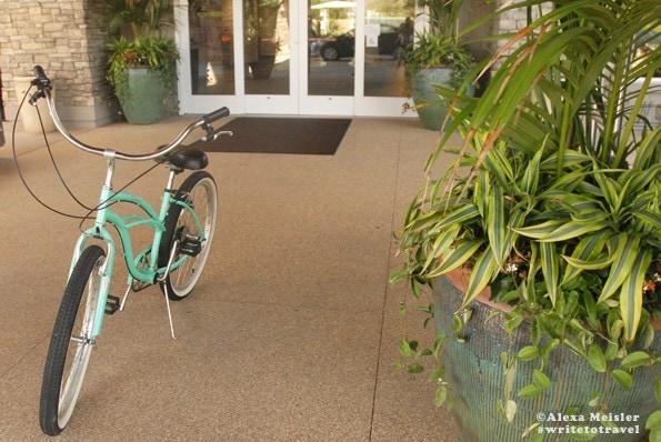 Bike rental at the Cape Rey Carlsbad Hotel