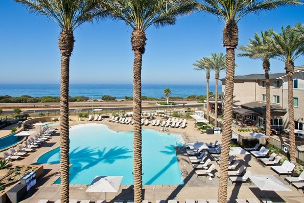 Cape Rey Carlsbad Hilton view of pool and ocean