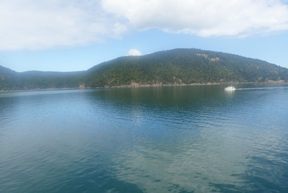 San Juan Islands beautiful view of water and island