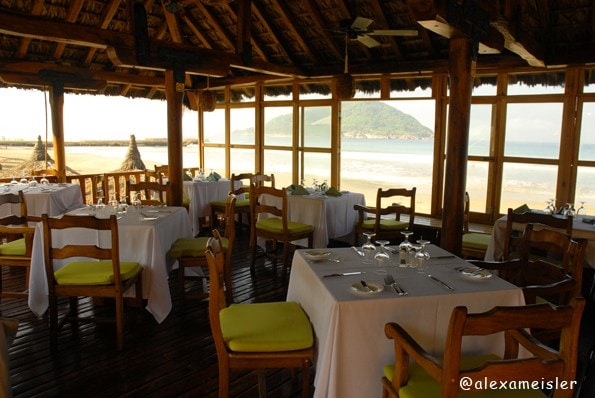 Cilantro's restaurant at Pueblo bonito in Mazatlan, Mexico
